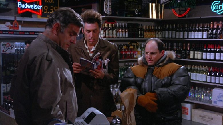 Budweiser Beer Neon Sign in Seinfeld Season 5 Episode 13 The Dinner Party (3)