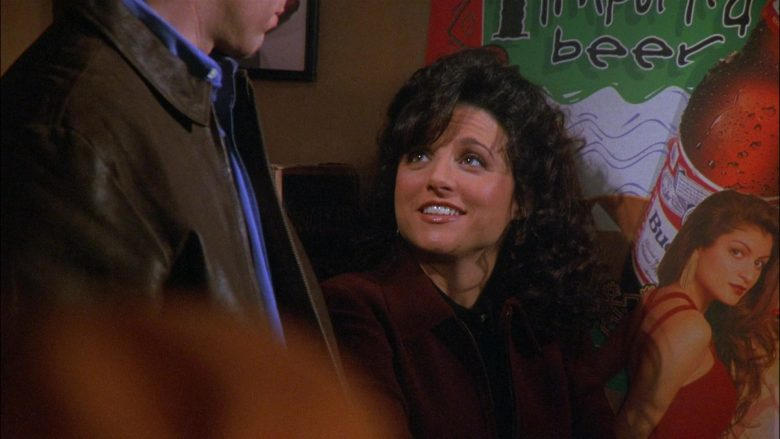 Budweiser Beer Poster in Seinfeld Season 8 Episode 11 The Little Jerry