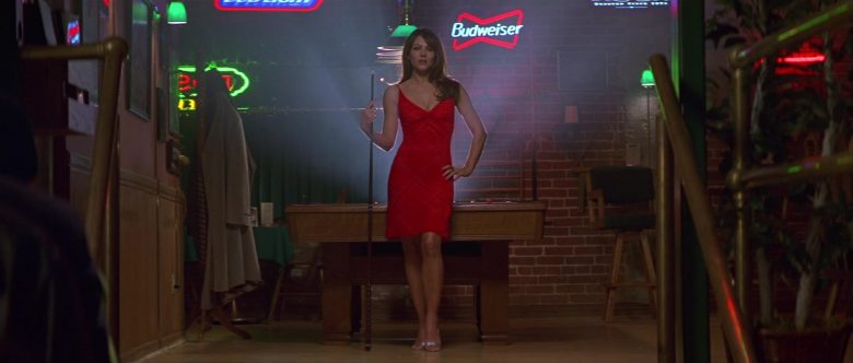 Budweiser Beer Sign Starring Elizabeth Hurley as The Devil in Bedazzled (2000)