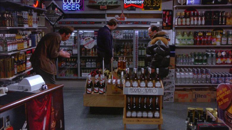 "Budweiser, G.H. Mumm, Miller Lite, Ferrari-Carano in Seinfeld Season 5 Episode 13 ""The Dinner Party"" (1994) - TV Show Product Placement"
