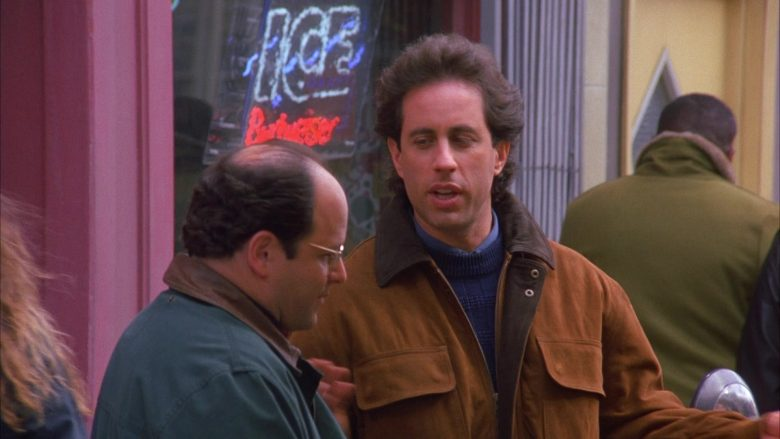 Budweiser Ice Beer Sign in Seinfeld Season 6 Episode 12 The Label Maker (2)