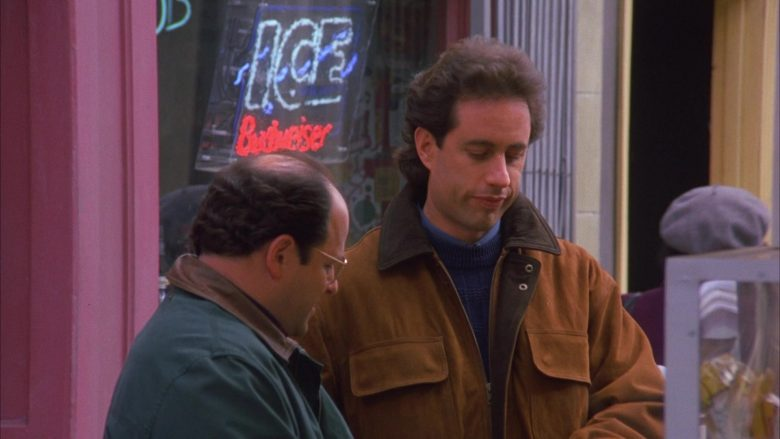 Budweiser Ice Beer Sign in Seinfeld Season 6 Episode 12 The Label Maker (3)