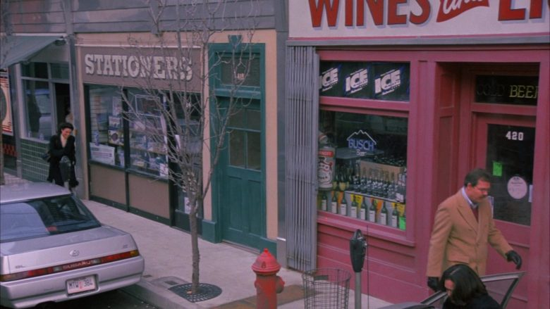 Budweiser Ice and Busch Beer Signs in Seinfeld Season 6 Episode 13 The Scofflaw