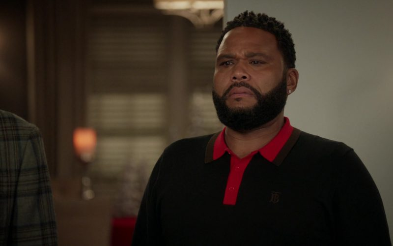 Burberry TB Monogram Polo Shirt Worn by Anthony Anderson as Andre 'Dre' Johnson in Black-ish Season 6 Episode 10 (3)