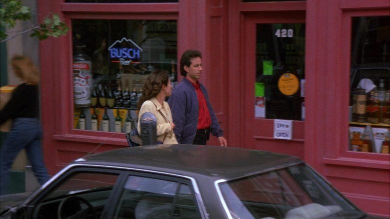 Busch Beer Neon Sign in Seinfeld Season 6 Episode 2 The Big Salad