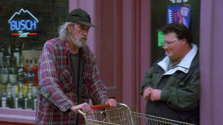 Busch Beer Neon Sign in Seinfeld Season 7 Episode 21-22 The Bottle Deposit (2)