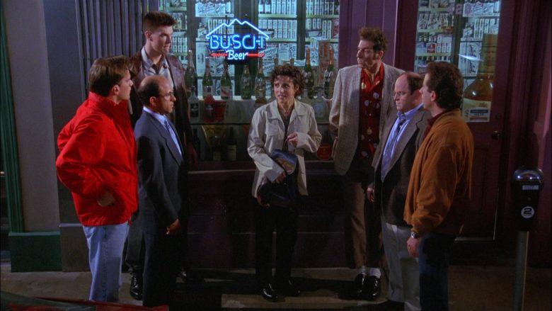 Busch Beer Neon Sign in Seinfeld Season 8 Episode 3 The Bizarro Jerry