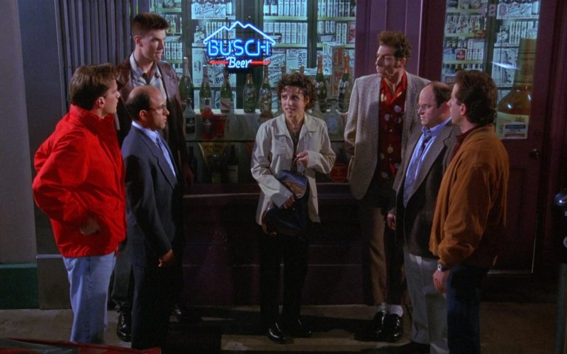 Busch Beer Neon Sign in Seinfeld Season 8 Episode 3 The Bizarro Jerry