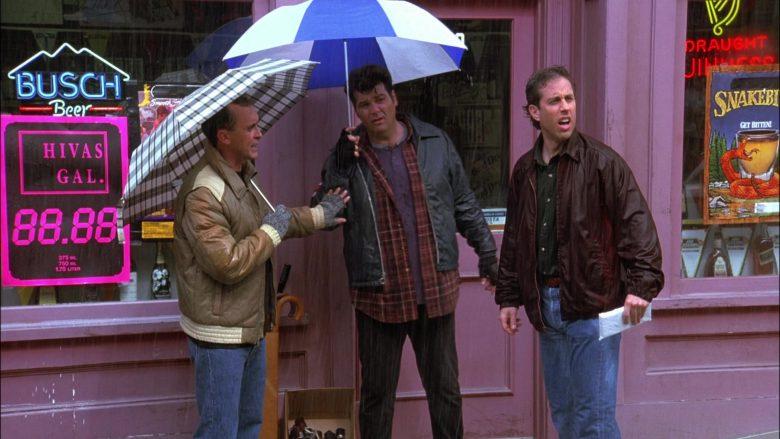 Busch Beer Neon Sign in Seinfeld Season 8 Episode 7 The Checks
