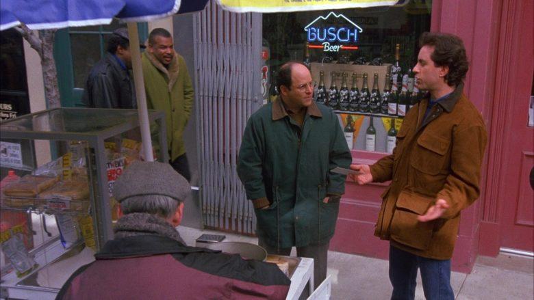 Busch Beer Sign in Seinfeld Season 6 Episode 12 The Label Maker