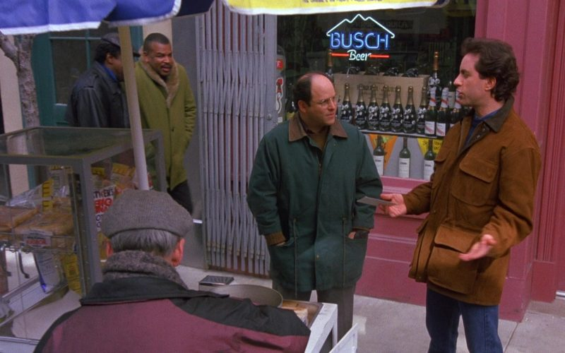 Busch Beer Sign in Seinfeld Season 6 Episode 12 The Label Maker