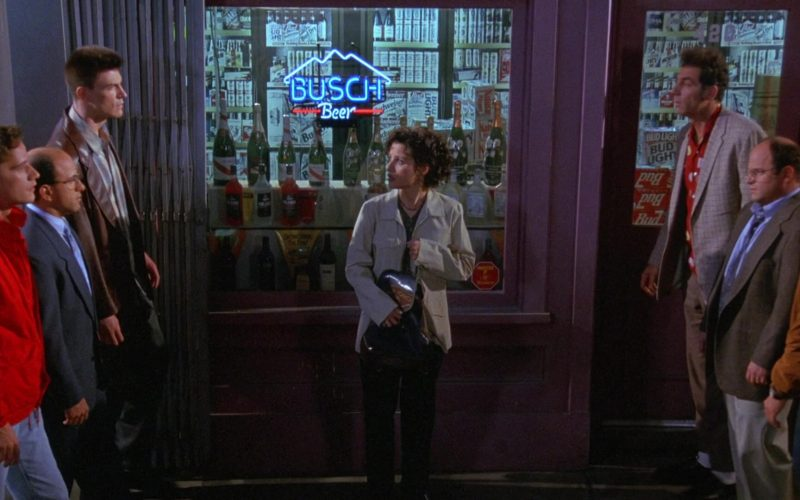 Busch Beer Sign in Seinfeld Season 9 Episode 21 The Chronicle (1)