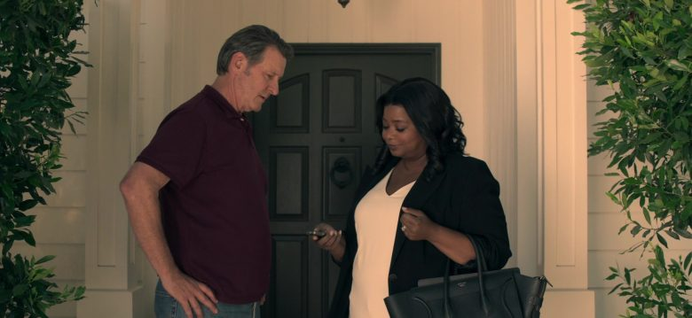 Céline Handbag Used by Octavia Spencer as Poppy Scoville-Parnell in Truth Be Told Season 1 Episode 3