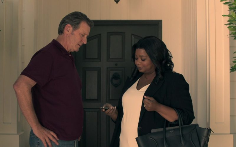 Céline Handbag Used by Octavia Spencer as Poppy Scoville-Parnell in Truth Be Told Season 1 Episode 3
