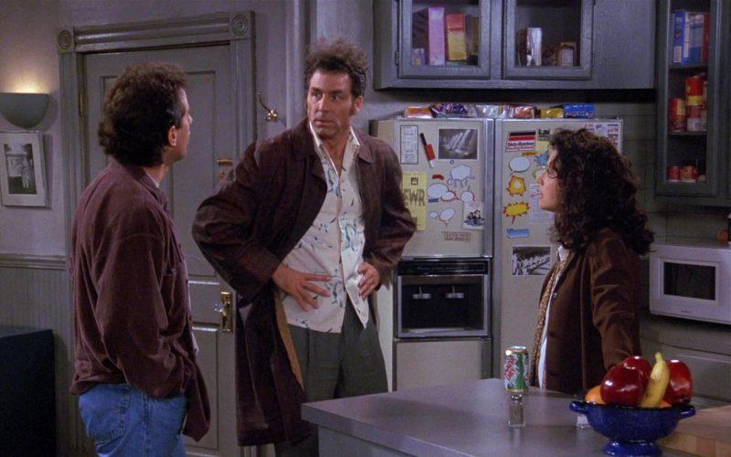Canada Dry Drink Enjoyed by Julia Louis-Dreyfus as Elaine Benes in Seinfeld Season 8 Episode 14 The Van Buren Boys