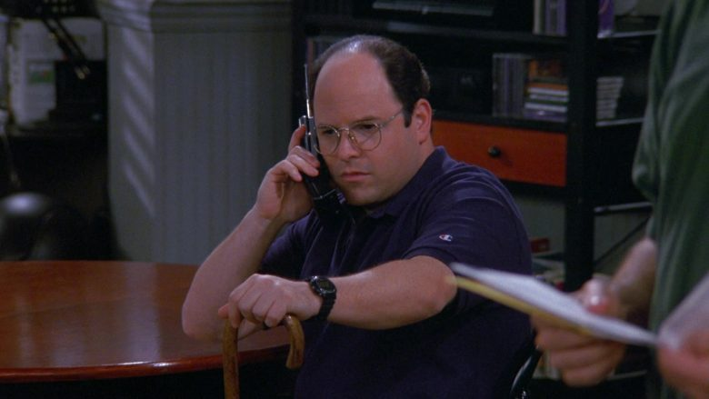 Champion Polo Shirt Worn by Jason Alexander as George Costanza in Seinfeld Season 9 Episode 1 The Butter Shave (1)
