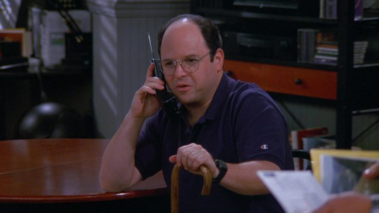 Champion Polo Shirt Worn by Jason Alexander as George Costanza in Seinfeld Season 9 Episode 1 The Butter Shave (2)