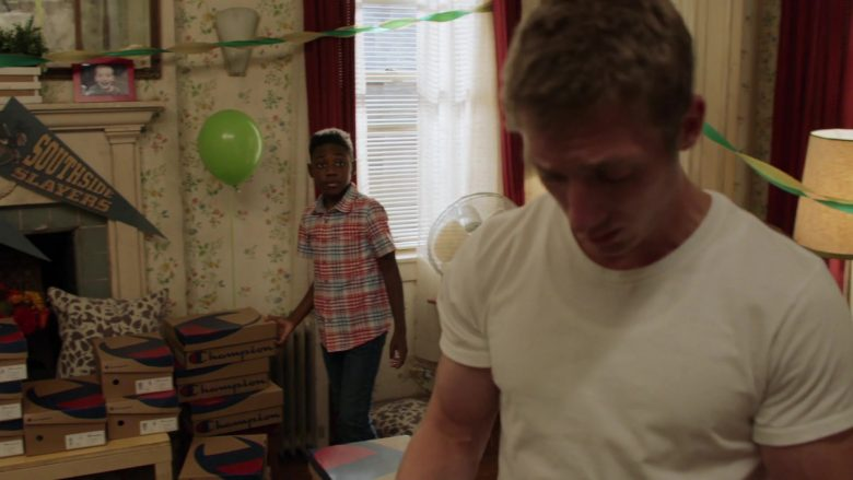 Champion Shoe Boxes in Shameless Season 10 Episode 5 Sparky (4)