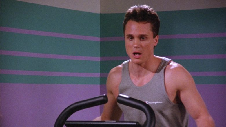 Champion T-Shirt For Men in Seinfeld Season 6 Episode 19 The Jimmy