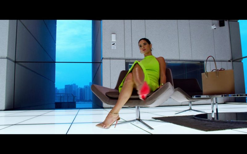 Christian Louboutin Handbag and Pumps Worn by Adria Arjona in 6 Underground (3)