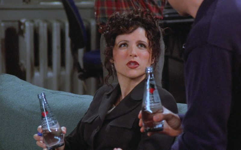 Clearly Canadian Drink Enjoyed by Julia Louis-Dreyfus as Elaine Benes in Seinfeld Season 7 Episode 19 (1)