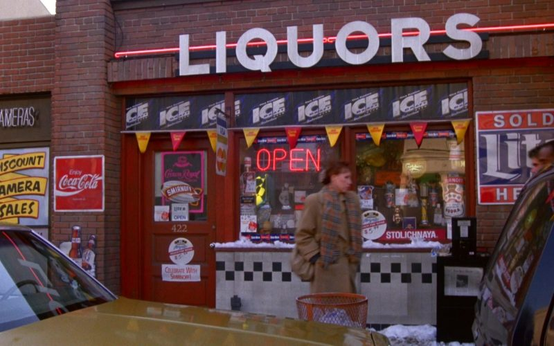 Coca-Cola, Ice Draft, Smirnoff, Stolichnaya, Miller Lite in Seinfeld Season 5 Episode 13