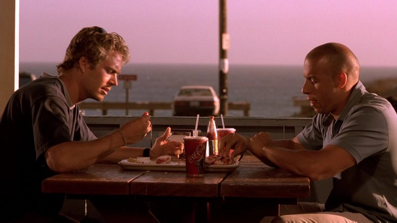 Coca-Cola Soda Enjoyed by Paul Walker & Vin Diesel in The Fast and the Furious (1)