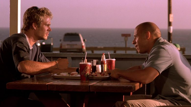 Coca-Cola Soda Enjoyed by Paul Walker & Vin Diesel in The Fast and the Furious (3)
