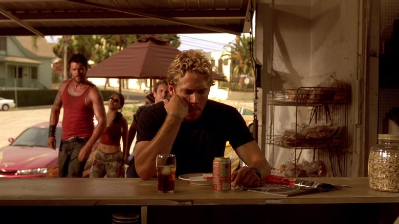 Coca-Cola Soft Drink Enjoyed by Paul Walker in The Fast and the Furious (1)
