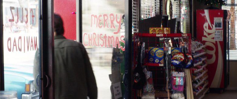 Coca-Cola Vending Machine, Nabisco Honey Maid Crackers, Jiffy Pop Popcorn in El Camino Christmas