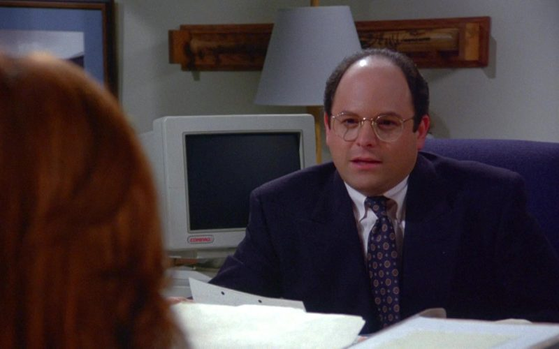 Compaq Computer Monitor Used by Jason Alexander as George Costanza in Seinfeld Season 6 Episode 9 The Secretary (1)