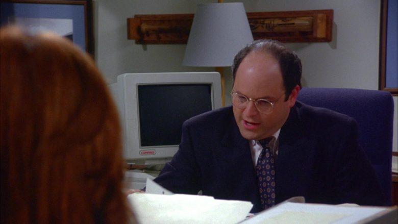 Compaq Computer Monitor Used by Jason Alexander as George Costanza in Seinfeld Season 6 Episode 9 The Secretary (2)
