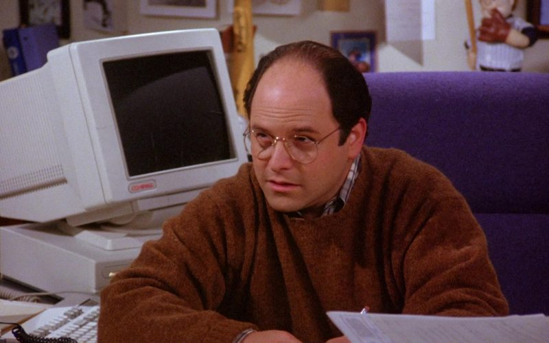 Compaq Monitor Used by Jason Alexander as George Costanza in Seinfeld Season 6 Episode 10 The Race (1)