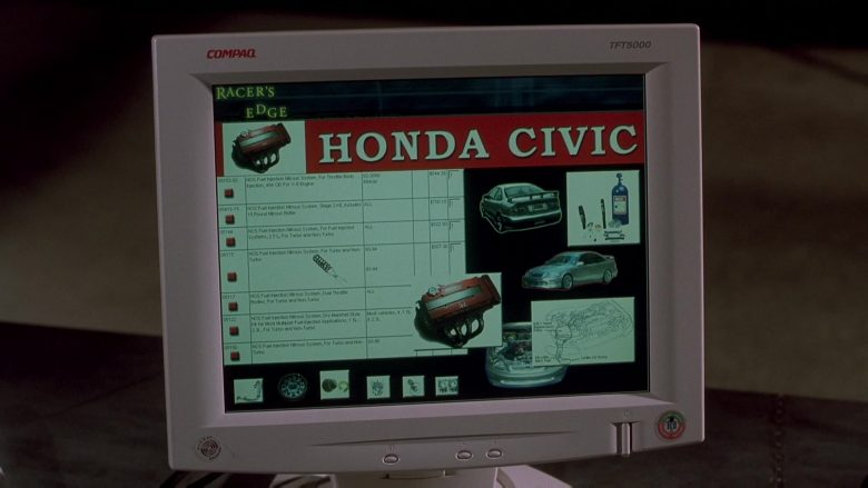 Compaq Monitor and Honda Civic in The Fast and the Furious