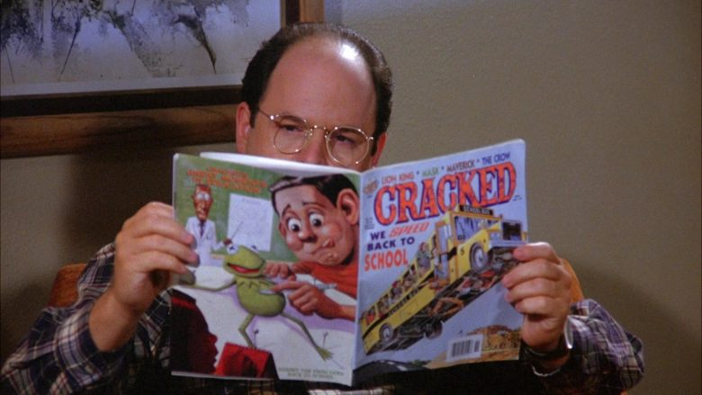 Cracked Comics Held by Jason Alexander as George Costanza in Seinfeld Season 6 Episode 5