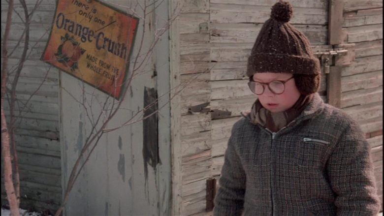 Crush Orange Soft Drink Vintage Sign in A Christmas Story