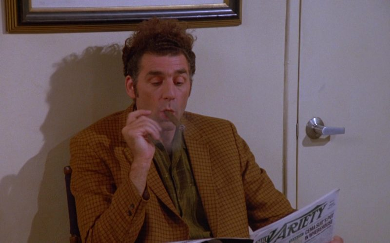 Daily Variety Magazine Held by Michael Richards as Cosmo Kramer in Seinfeld Season 5 Episode 2 (1)