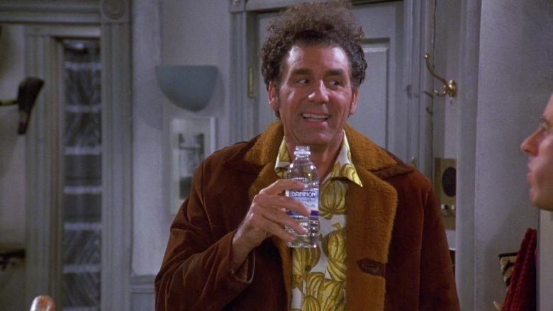 Dannon Water Enjoyed by Michael Richards as Cosmo Kramer in Seinfeld Season 9 Episode 10
