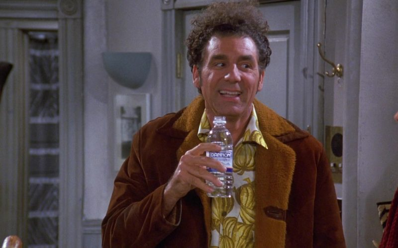 Dannon Water Enjoyed by Michael Richards as Cosmo Kramer in Seinfeld Season 9 Episode 10