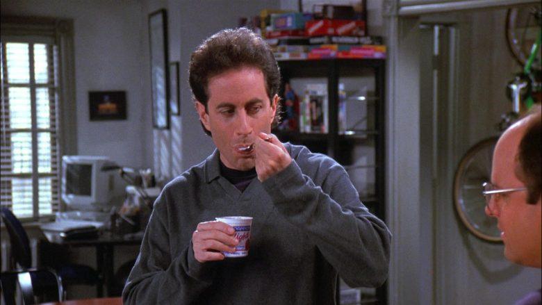Dannon Yogurt Enjoyed by Jerry Seinfeld in Seinfeld Season 8 Episode 5 The Package