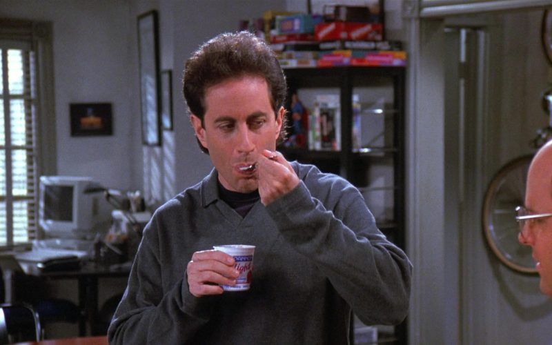 Dannon Yogurt Enjoyed by Jerry Seinfeld in Seinfeld Season 8 Episode 5 The Package