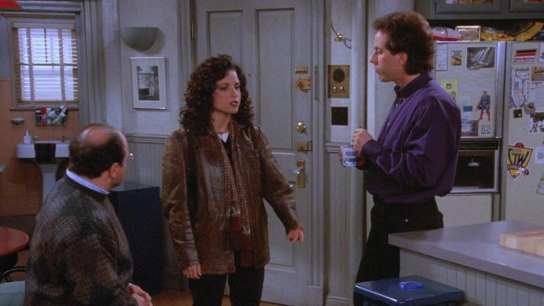 Dannon Yogurt Held by Jerry Seinfeld in Seinfeld Season 7 Episode 9 The Sponge (1)