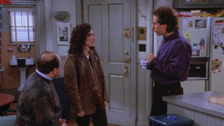 Dannon Yogurt Held by Jerry Seinfeld in Seinfeld Season 7 Episode 9 The Sponge (2)