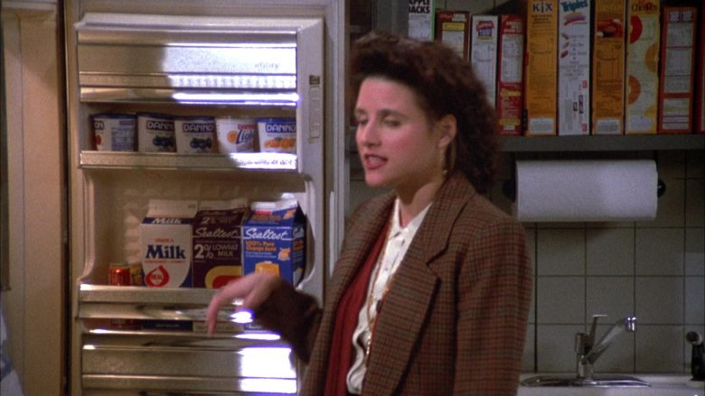 Dannon Yogurts, Sealtest Milk and Juice in Seinfeld Season 4 Episode 15 The Visa