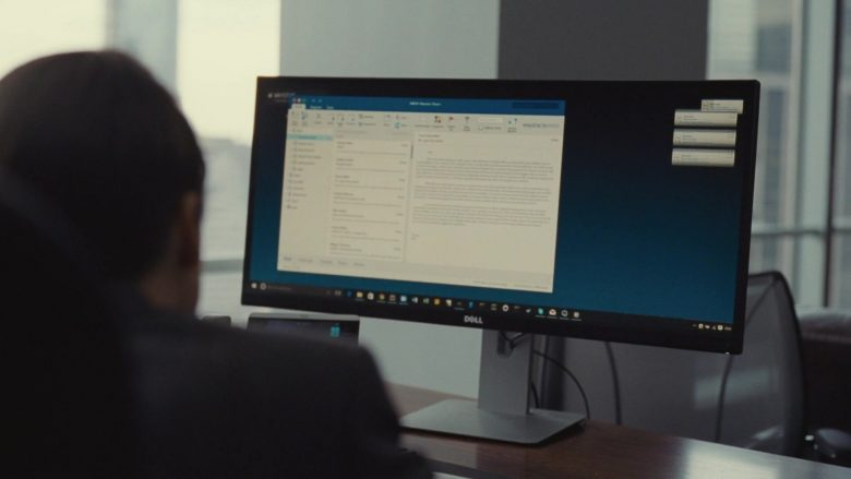 Dell All-In-One Desktop Computer Used by Kieran Culkin as Romulus 'Roman' Roy in Succession Season 1 Episode 3 Lifeboats (2)