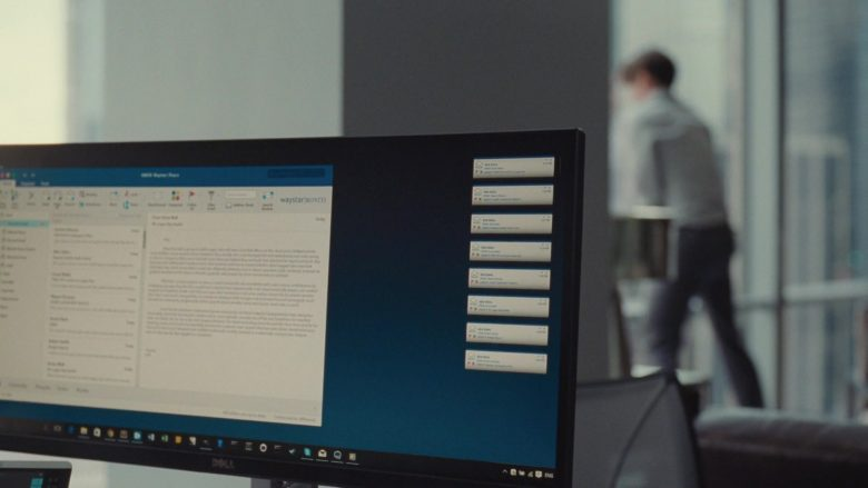 Dell All-In-One Desktop Computer Used by Kieran Culkin as Romulus 'Roman' Roy in Succession Season 1 Episode 3 Lifeboats (3)