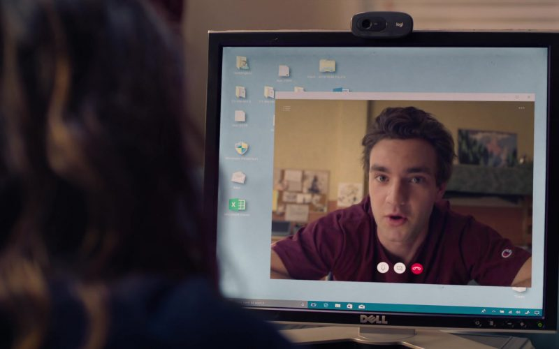 Dell Monitor And Logitech Webcam Used by Kathryn Hahn in Mrs. Fletcher Season 1 Episode 6