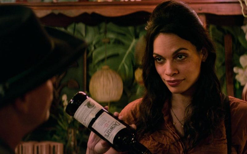 Dewar's 12 Year Aged Scotch Whisky Bottle Held by Rosario Dawson as Nevada in Zombieland Double Tap (2)