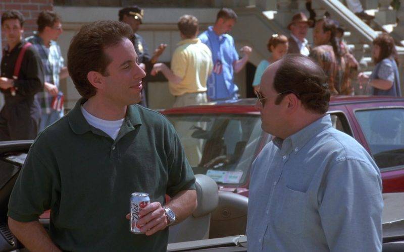 Diet Coke Can Held by Jerry Seinfeld in Seinfeld Season 9 Episode 20 The Puerto Rican Day (1)