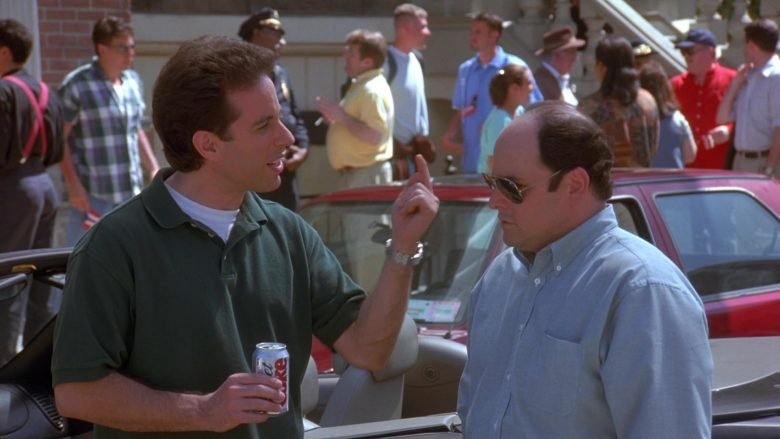 """Diet Coke Can Held by Jerry Seinfeld in Seinfeld Season 9 Episode 20 """"The Puerto Rican Day"""" (1998) TV Show"""